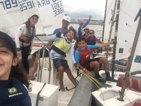 Velejadores de Optimist participam de Clínica no Rio de Janeiro